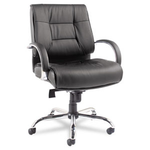 Alera Ravino Big & Tall Series Mid-Back Swivel/Tilt Leather Chair