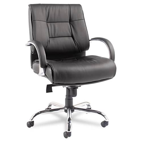 Alera Ravino Big & Tall Series Mid-Back Swivel/Tilt Leather Chair