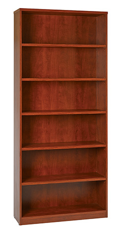 "6-Shelf Bookcase with 1"" Thick Shelves"