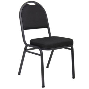 Boss Black Crepe Banquet Chair