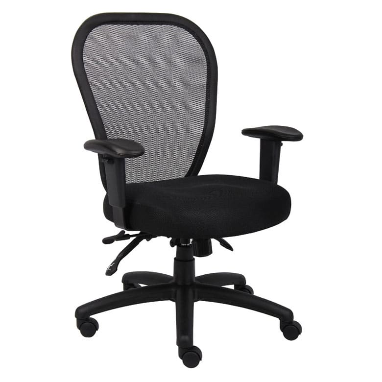 Boss Mesh Chair W 3 Paddle Mech Pnp Office Furniture