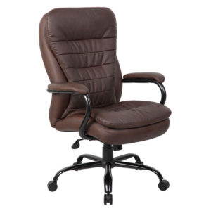 Boss Heavy Duty Double Plush LeatherPlus Chair