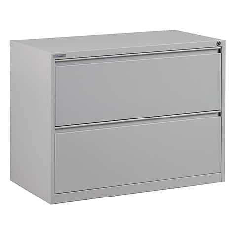 2 Drawer Lateral File With Core-removeable Lock & Adjustable Glides