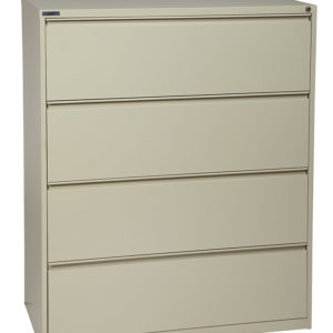 4 Drawer Lateral File With Core-removeable Lock & Adjustable Glides