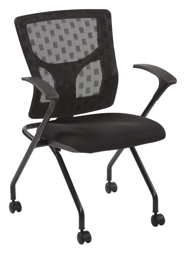 PROGRID® CHECKERED MESH BACK FOLDING CHAIR