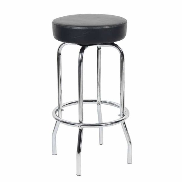 29″ Chrome/Black Stool