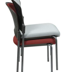 Titanium Finish Armless Visitors Chair