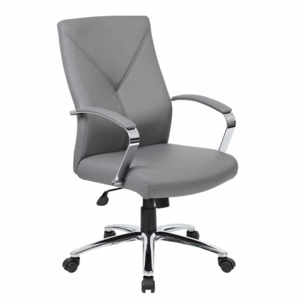 Boss LeatherPlus Executive Chair-Grey