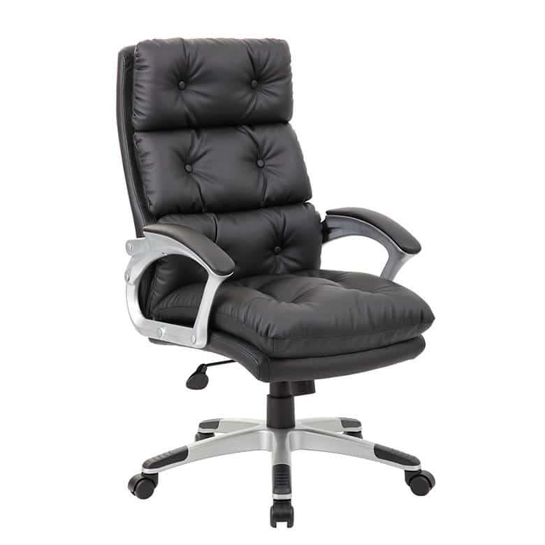 Superieur Boss Executive Button Tufted High Back LeatherPlus Chair   PnP Office  Furniture
