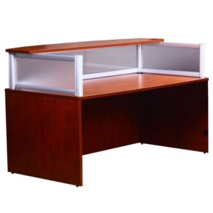 Plexiglass Reception Desk, Cherry