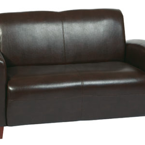 Mocha Bonded Leather Love Seat