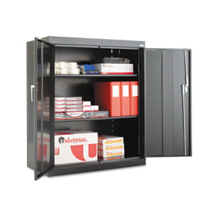 "Assembled 42"" High Storage Cabinet, w/Adjustable Shelves"