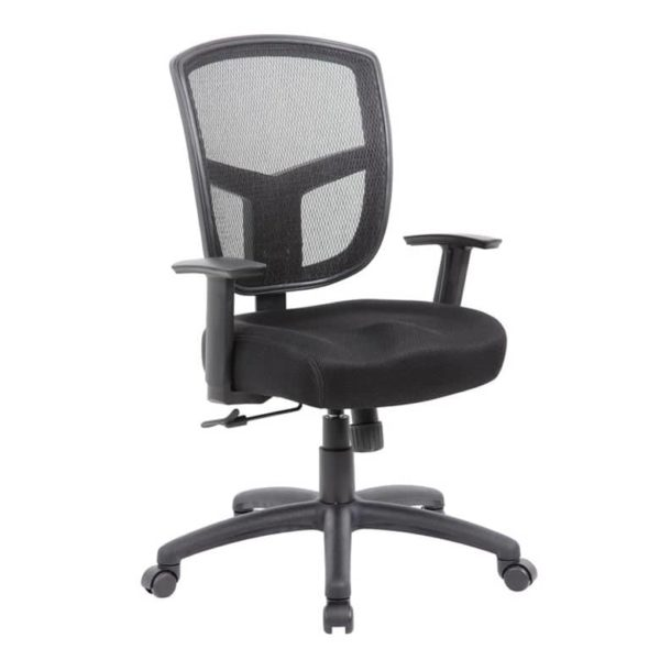 Boss Contract Mesh Task Chair, Synchro-Tilt Mechanism