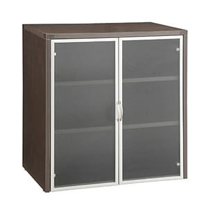 "Napa 37""H Storage Cabinet, Wood Doors"