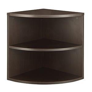 "Napa 29""H Quarter-Round Bookcase"