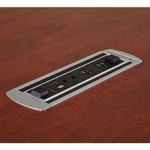 EXPANDABLE TABLES POWER/DATA UNIT, 2 POWER, 2 RJ45 CAT. 6 PLUS 6' CORD
