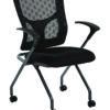 PROGRID® Checkered Mesh Back Folding Chair