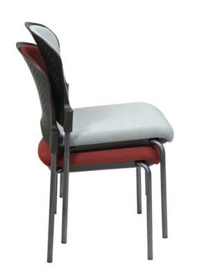 Titanium Finish Armless Visitors Chair