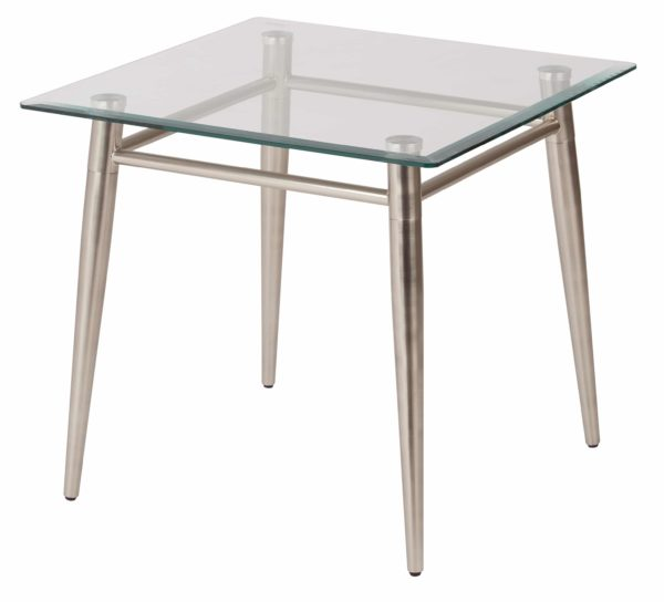 Brooklyn Glass Square Top End Table